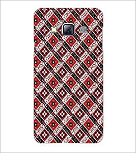 SAMSUNG GALAXY A3 SQUARE PATTERN Designer Back Cover Case By PRINTSWAG