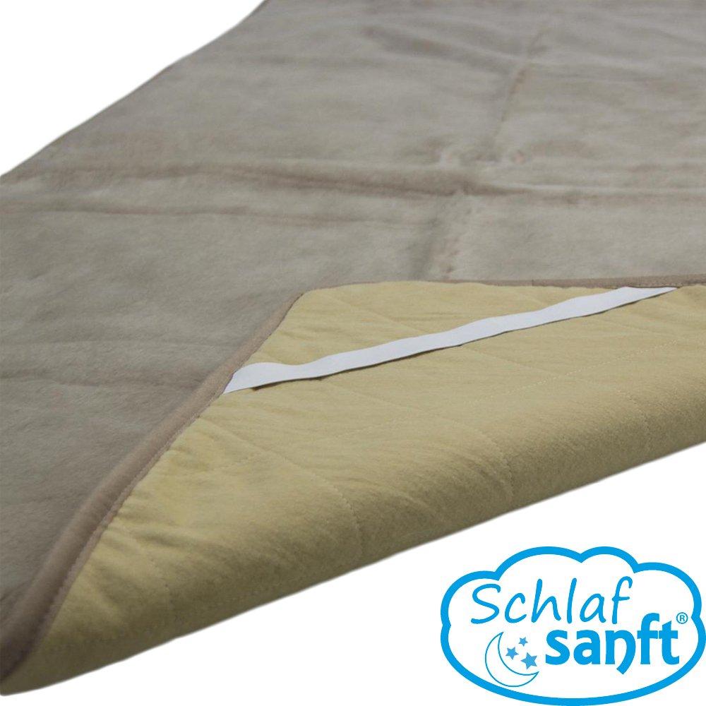 Unterbett Bettauflage Schafwolle MERINO Plus verschiedene Farben und Größe auswählen (beige, 200×200) günstig