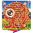 Joyeee® Magnetic Wooden Bead Maze Puzzle - Elephant Pattern - Magnet Pen Driving Labyrinth for Children 3 Years and Up - Perfect Christmas Gift Idea