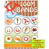 K7plus® Loom Bands Anleitungsheft - 64 Seiten - voll gepackt mit kreativen Loom Bandz Ideen - dazu ein 313 teiliges Loom Bands Set