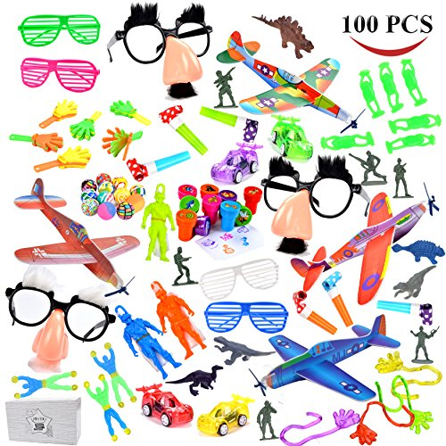 Joyin-Toy-Over-100-Pc-Party-Favor-Toy-Assortment-Kids-Party-Favor-Birthday-Party-School-Classroom-Rewards-Carnival-Prizes-Pinata-Toys-Stocking-Stuffers