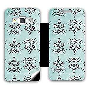 Skintice Designer Flip Cover with a hi-res printed Vinyl Wrap-around for Samsung Galaxy A3 , Design - Dragon Face