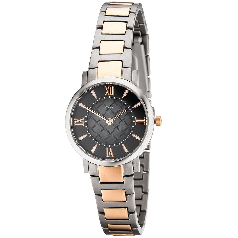 Damen Armbanduhr – Quarz-Analog – Gehäuse – Band und Boden Titan – rosé teilplattiert als Geschenk