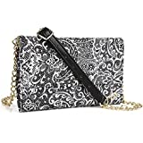 Timeless Black Paisley Weekender Crossbody Bag For QMobile Noir Z5 Z6 Z7 Z8 Z8 Plus Z9, M300, QMobile Linq L15 L10 | Cases and Covers