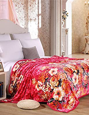 GAOL, four-piece suit,Comforter Soft Simple Fashion Pattern Stay Warm Thickening Flannel Blanket