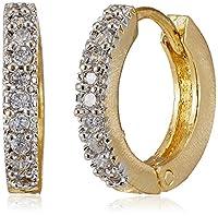 Ava Elegant American Diamond Bali Earrings (Gold) (E-B-014)