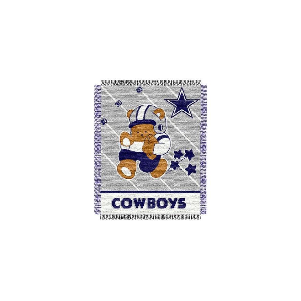 Dallas Cowboys NFL Woven Jacquard Baby Throw  Sports