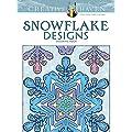 Snowflake Designs: Coloring Book