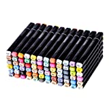 Finecolour Graphic Soft Brush and Broad Tips Marker Pen Animation Design 72 Colours