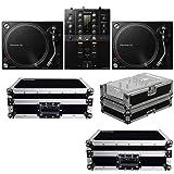 Pioneer DJM-250MK2 DJ Mixer w/ (2) PLX-500K Turntables & Cases