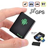 Fanala Mini Durable Car GPS Tracker Tracking Locator Device Anti-Theft Tracker GPS Trackers (Color: As Picture)