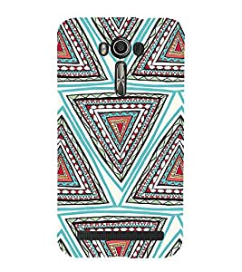 Triangle Pattern Cute Fashion 3D Hard Polycarbonate Designer Back Case Cover for Asus Zenfone 2 Laser ZE601KL (6 INCHES)