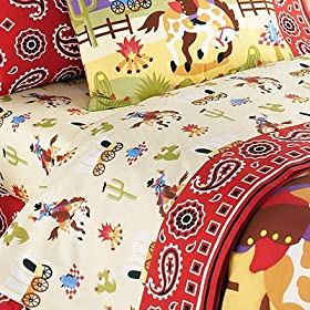 Olive Kids Ride'em Twin Sheet Set