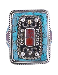 Tibet Jewelry,Coral Ring,Tibetan Jewelry,Ring