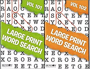 Large Print Word Search Set of 4 Volumes (101, 102, 103, 104)