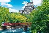 1000ピース ジグソーパズル めざせパズルの達人 新緑の姫路城-兵庫 (50x75cm)