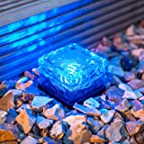 Blue LED Solar Powered Garden Path Light by Lights4fun