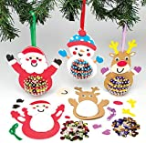 Lot de 3 kits de décorations de Noël avec sequins pour enfants à fabriquer et décorer....
