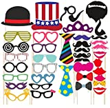 #5: SYGA Party Props Props Craft Party Item, Multi Colour (Set of 40)