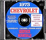 img - for 1973 CHEVROLET CORVETTE REPAIR SHOP & SERVICE MANUAL On CD-ROM INCLUDING: all 1973 Corvette Stingray, Fastback, Convertible, Hardtop - VETTE 73 book / textbook / text book