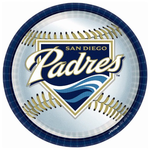 San Diego Padres Baseball - Round Dinner Plates Party Accessory - 1