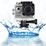 "ABLEGRID® SJ5000 WIFI Novatek 96655 12MP 2.0"" LCD 1080P 170 Degree Wide Angle Sport Action Camera Waterproof Cam DV Camcorder Outdoor for Bicycle Motorcycle Diving Swimming Silver"