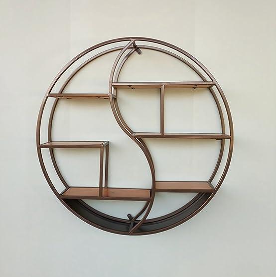 Book Jia librerie Soggiorno nordico appeso scaffale in legno massello in ferro battuto espositore / libreria creativa semplice parete decorativa librerie moderne ( Colore : B )
