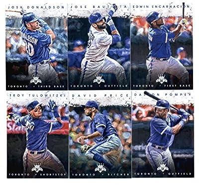 2016 Diamond Kings Toronto Blue Jays Team Set of 6 Cards: Edwin Encarnacion(#67), Jose Bautista(#83), Josh Donaldson(#84), Troy Tulowitzki(#101), David Price(#108), Dalton Pompey(#138) SEALED in Protective Snap Case