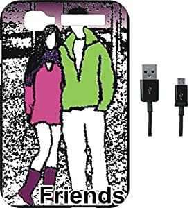 BKDT Marketing Printed Soft Back Cover Combo for Intex Aqua Y2 Pro With Charging Cable