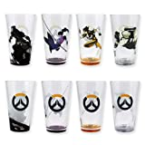 Officially Licensed Overwatch Pint Glasses (Set of 4) (Color: White)