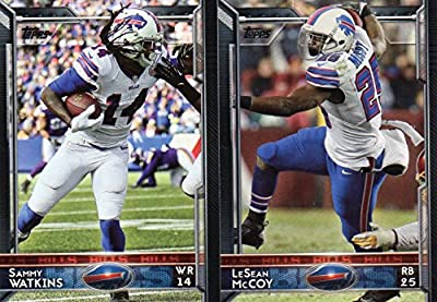 Buffalo Bills 2015 Topps NFL Football Complete Regular Issue 18 Card Team Set Including Sammy Watkins, Lesean McCoy, Mario Williams Plus