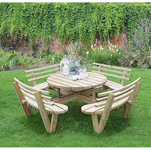 Get cheap 8 seater wooden circular picnic table attached chairs with buy cheap 8 seater wooden circular picnic table attached chairs with backs watchthetrailerfo