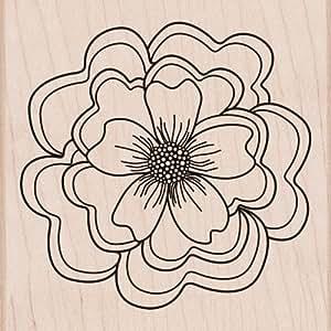 Hero Arts Woodblock Stamp, Ruffled Flower