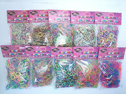 Rum band original transparent dots 4800 8 color piece set beads, clip S 96 with instructions