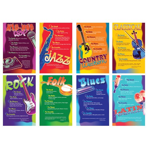 NST3059 - MUSIC GENRES BB SET (Music Bulletin Board compare prices)