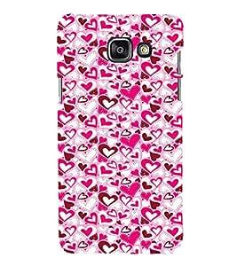 EPICCASE Mad hearts Mobile Back Case Cover For Samsung Galaxy A3 (Designer Case)