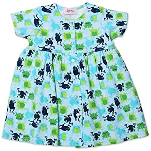 Zutano Short Sleeve Baby Dress - Froggies - 18 Months