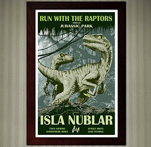 Jurassic Park   Isla Nublar Travel Poster   11x17