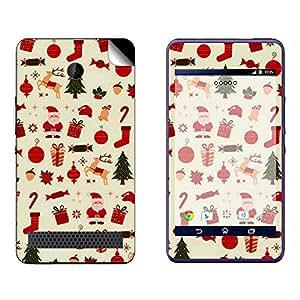 Skintice Designer Vinyl Skin Sticker for Sony Xperia E1, Design - christmas patterns