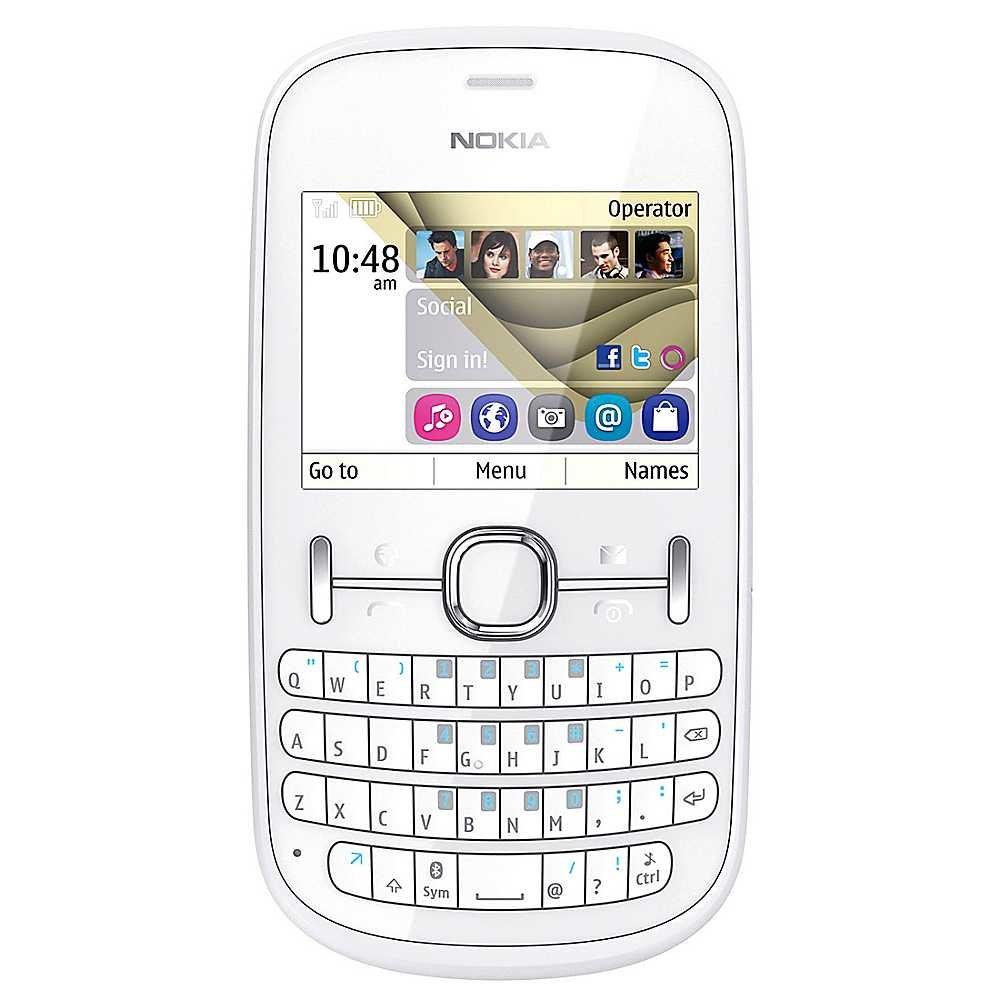 T�l�phone GSM NOKIA ASHA 201 BLANC