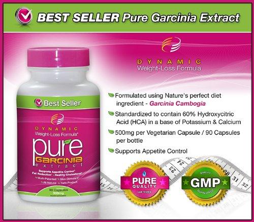 #1 NEW PURE Garcinia Cambogia Extract -Garcinia Cambogia- 500 mg, 90 Veggie Capsules