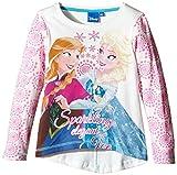 DISNEY, CAMISETA MANGA LARGA FROZEN - Camiseta de manga larga infantil, color marfil (platre/rosa), talla 8 años