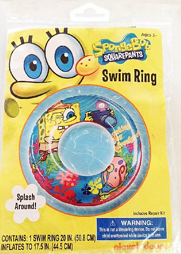 "Spongebob Squarepants Nickelodeon Swimming Pool 20"" Swim Ring"