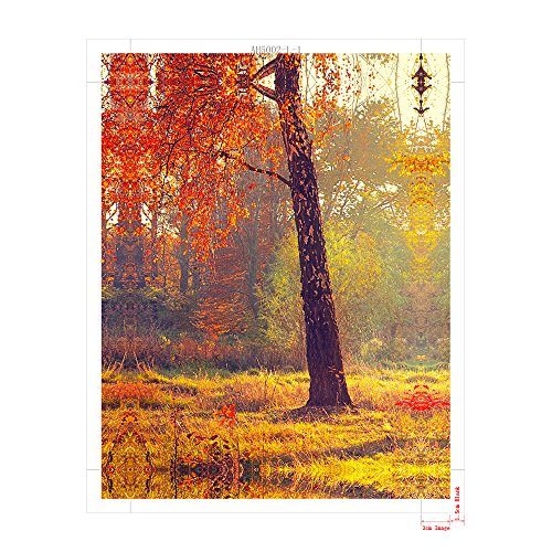 pyradecor matinal forest 5 panels landscape giclee canvas prints on canvas wall art modern. Black Bedroom Furniture Sets. Home Design Ideas