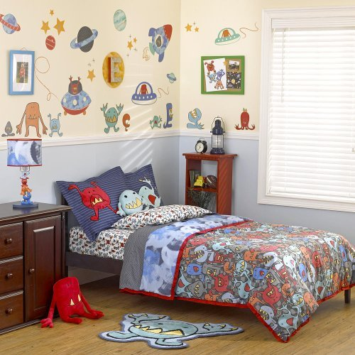 Truly Scrumptious Monster Pals 3 Piece Full Bedding Set front-1048777
