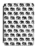 Disguised® Elephants Black & White Kindle Paperwhite / Kindle Original 4th Generation PU Leather Flip Case Cover Designed by Katie Reed