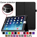 Fintie iPad Air 2 Case [Corner Protection] - Slim Fit Leather Folio Case with Smart Cover Auto Sleep / Wake Feature for Apple iPad Air 2 (iPad 6) 2014 Model, Black