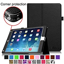 buy Fintie Ipad Air 2 Case [Corner Protection] - Slim Fit Leather Folio Case With Smart Cover Auto Sleep / Wake Feature For Apple Ipad Air 2 (Ipad 6) 2014 Model, Black