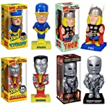 Marvel Bobble Head Set Iron Man Thor Colossus Cyclops