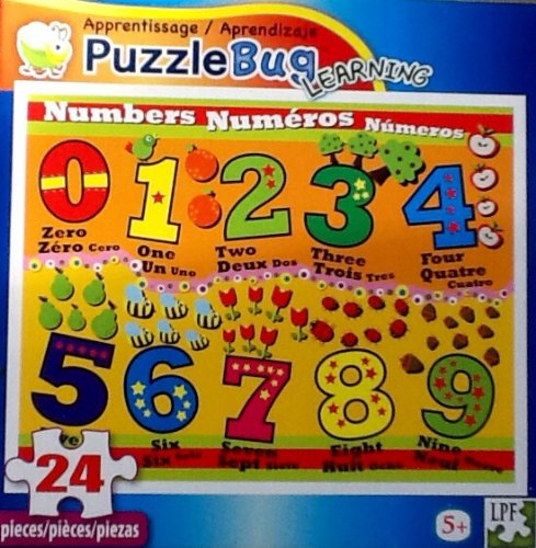 Fantastic Childrens Number Jigsaw Puzzle!!! 24 Piece Puzzle Educational Bright & Colorful By Puzzlebug